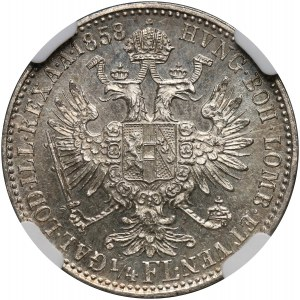 Austria, Franciszek Józef I, 1/4 florena 1858 B, Kremnica