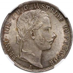 Austria, Franciszek Józef I, floren 1860 A, Wiedeń