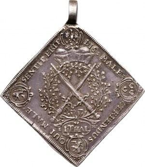 Niemcy, Saksonia, Jan Jerzy IV, klipa talarowa 1693, Drezno