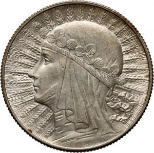 II RP, 5 złotych 1932, Londyn, Głowa kobiety
