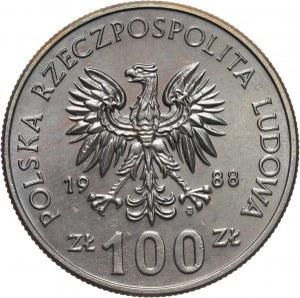 PRL, 100 złotych 1988, 70. Rocznica Powstania Wielkopolskiego, PRÓBA, miedzionikiel