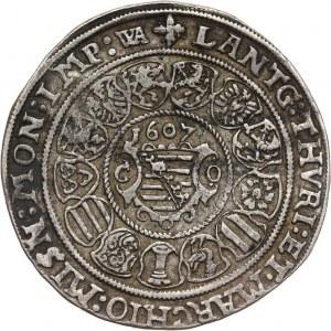 Germany, Saxony-Coburg-Eisenach, Johann Casimir and Johann Ernst, Thaler 1607 WA, Coburg