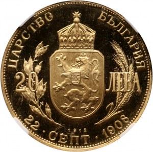 Bulgaria, Ferdinand I, 20 Leva 1912, Restrike, National Bank Issue