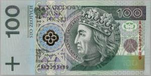 III RP, 100 złotych 25.03.1994, seria AA