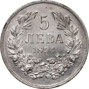 Bulgaria, Ferdinand I, 5 Leva 1894