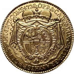 Liechtenstein, Józef Jan Adam, dukat 1728, RESTRIKE