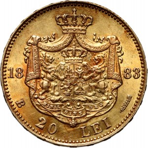 Rumunia, Karol I, 20 lei 1883 B, Bukareszt