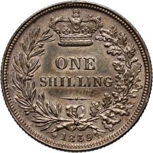 Wielka Brytania, Wiktoria, szyling 1839, Londyn