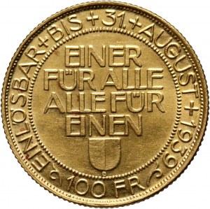 Szwajcaria, 100 franków 1939, Zawody strzeleckie w Lucernie