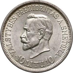 Lithuania, 10 Litu 1938, A. Smetona
