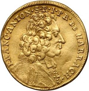 Austria, Salzburg, Franciszek Antoni książę Harrach, dukat 1716, Salzburg