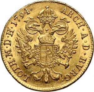 Austria, Franciszek II, dukat 1794 B, Kremnica