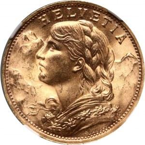 Szwajcaria, 20 franków 1935 LB