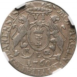 August III, szóstak 1760 REOE, Gdańsk