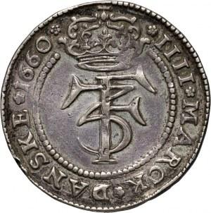 Dania, Fryderyk III, korona (4 Marki) 1660