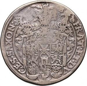 Niemcy, Saksonia, Krystian II, Jan Jerzy I i August, talar 1598 HB, Drezno