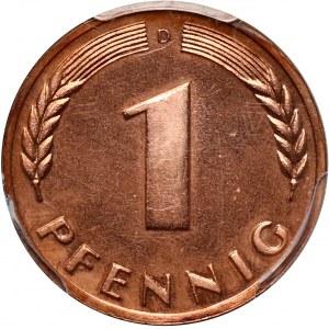 Germany, 1 pfennig 1949 D, Munich, PROOF