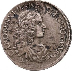 Pomorze, Karol XI, 1/3 talara 1674 DS, Szczecin
