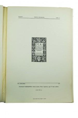 Sygnety polskich drukarzy, księgarzy i nakładców, zeszyty 1 - 3, reprint 1986