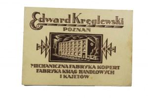 [REKLAMA] Edward Kręglewski Poznań Mechaniczna Fabryka Kopert, Fabryka Ksiąg Handlowych i Kajetów