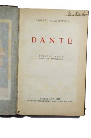 PORĘBOWICZ Edward - Dante, Warszawa 1922