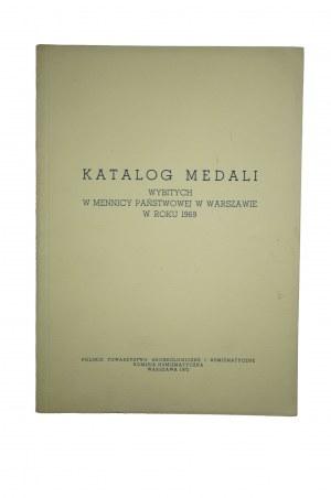 [MENNICA PAŃSTWOWA] Katalog medali wybitych przez Mennicę Państwową w Warszawie w roku 1969
