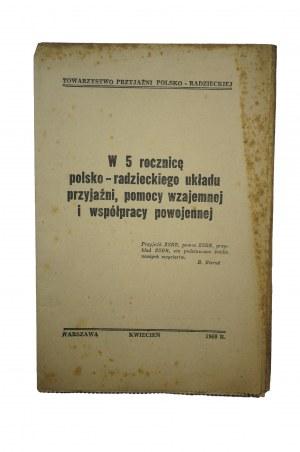 [TPPR] W 5 rocznicę polsko-radzieckiego układu przyjaźni, pomocy wzajemnej i współpracy powojennej, kwiecień 1950