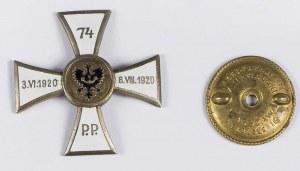 74 Pułk Piechoty odznaka pamiątkowa