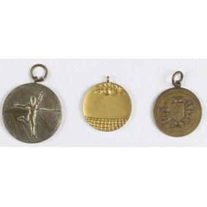 Zestaw 3 medalików nagrodowych