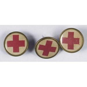 Zestaw 3 odznak Polski Czerwony Krzyż PCK