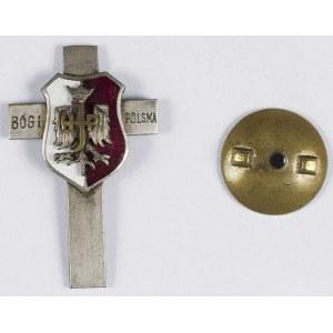 Krzyżyk z nałożoną emaliowaną tarczą