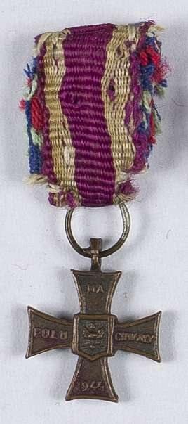 Miniaturka Krzyża Walecznych 1944