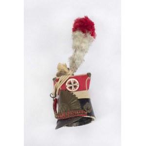 Miniatura czapki 1 Pułku Szwoleżerów Lansjerów Gwardii Cesarskiej