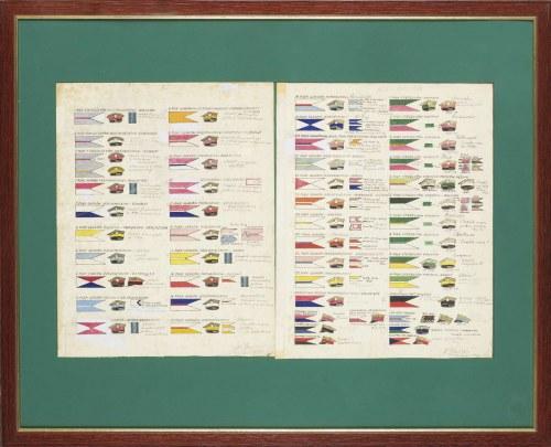 Tablica poglądowa dotycząca obowiązujących kolorów z podziałem na proporczyki