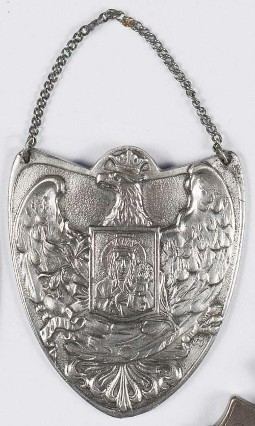 Ryngraf patriotyczny - Orzeł z obrazem Matki Boskiej Częstochowskiej na piersi