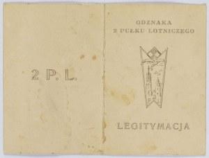 Legitymacja Odznaka 2 Pułku Lotniczego Nr 520