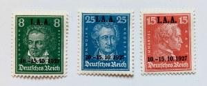 Seria znaczków z roku 1927 z nadrukiem