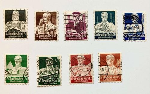 Seria znaczków stemplowanych z roku 1934