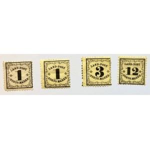Badenia. seria znaczków z roku 1862
