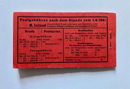 Zeszycik ze znaczkami z 1941 roku z Adolfem Hitlerem