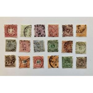 Bawaria. 18 znaczków stemplowanych