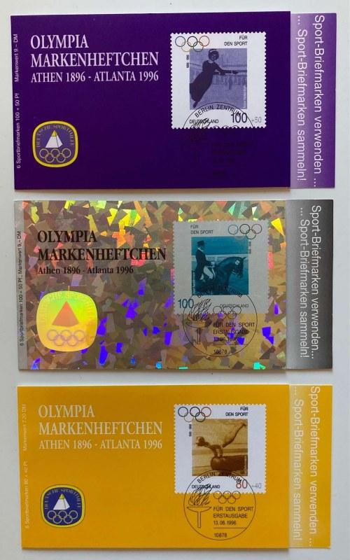 Republika Federalna Niemiec; zestaw 3 zeszycików Olimpiady Atlanta