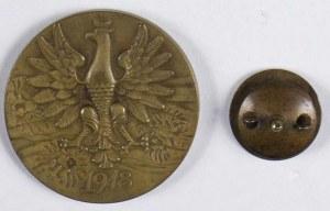 Zestaw 2 szt: medal JÓZEF PIŁSUDSKI - Naczelnik Państwa