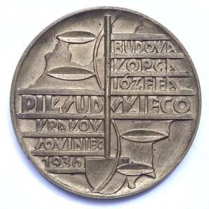 BUDOWA KOPCA J. PIŁSUDSKIEGO W KRAKOWIE - 1936
