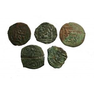 zestaw monet tatarów krymskich 5 szt AE