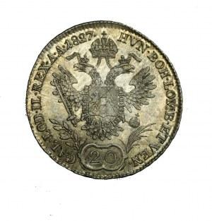 AUSTRIA Franciszek I, 20 kreutzerów 1827