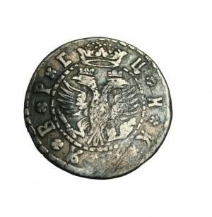 ROSJA Piotr I,10 kopiejek AR(griwiennik) 1704 (data cyrylicą)