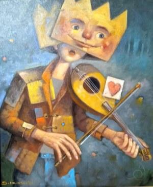Dariusz Miliński, ZAMASKOWANY WALENTY 50 x 60 cm.