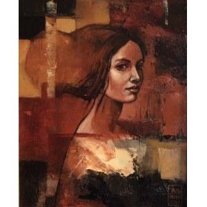 Mira Skoczek Wojnicka, DAMA Z GRĄBKOWA 21 x 26 cm