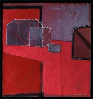 Iwona Stachura (ur. 1968), Recykling szkicu. Różowy 2, 2021